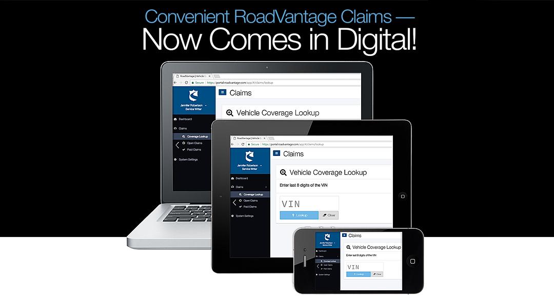 Convenient RoadVantage Claims — Now Comes in Digital!