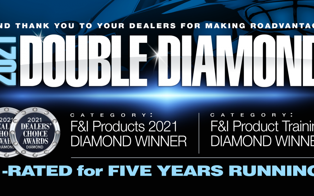 RoadVantage repeats in 2021, winning Diamond Dealers' Choice Awards in two categories